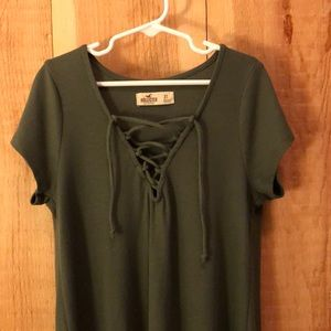 Olive green Hollister shirt